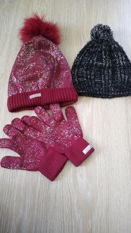 Czapka zimowa plus rękawiczki Cocodrillo 56 cm