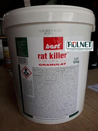 Brodifakum Granulat na myszy i szczury Rat Killer Perfekt 10kg Wysyłka