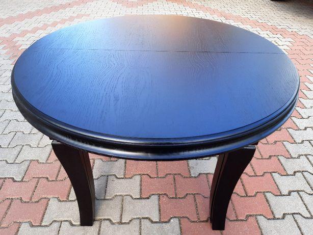 Stół okrągły czarny 150 x 350 Mega rozkładany 8 Nóg HiT Dębowy