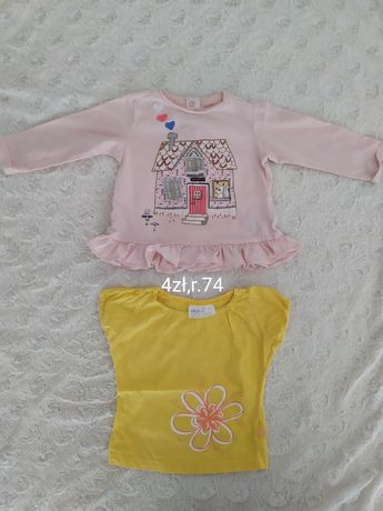 Bluzki dla dziewczynki r.74