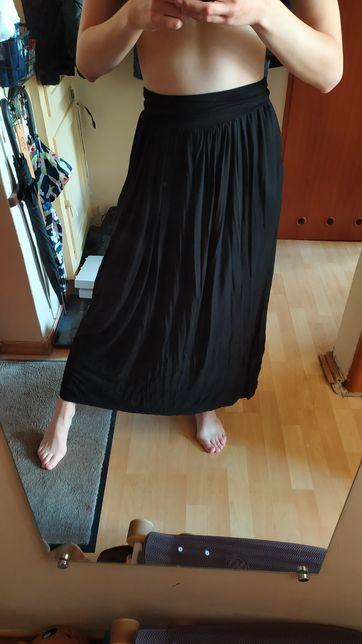 Materiałowa spódnica maxi czarna roz. S