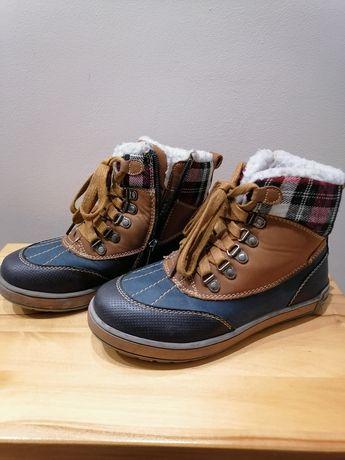 Ciepłe buty zimowe w kratkę 33