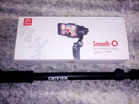 Gimbal Smooth-q stabilizator do smartfona + monopod Camrock