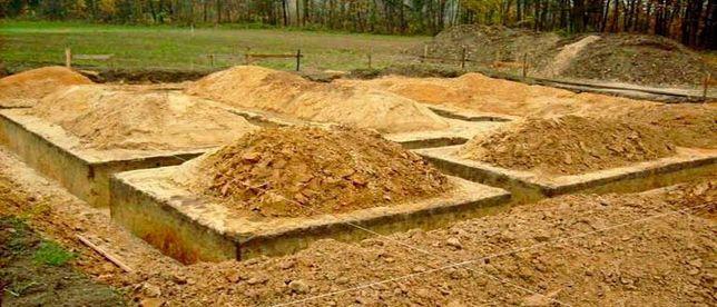 Земляные работы, траншея, фундамент, спил/распил деревьев, планировка.