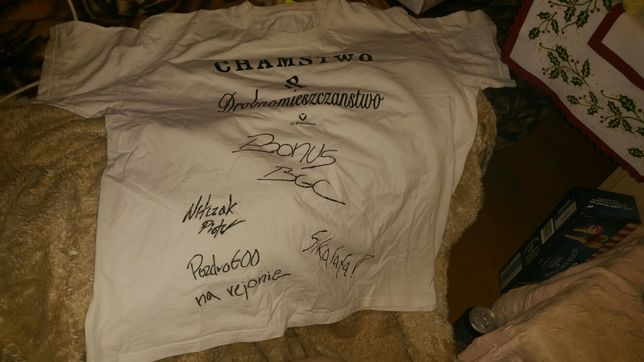 koszulka z autografem bonus bgc