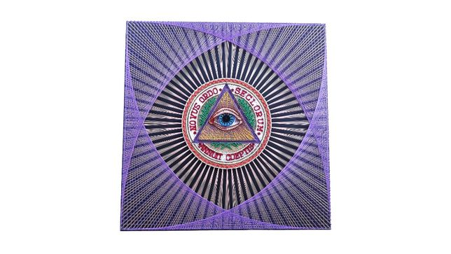 Картина стринг арт Всевидящее око, масонские символы, картина подарок