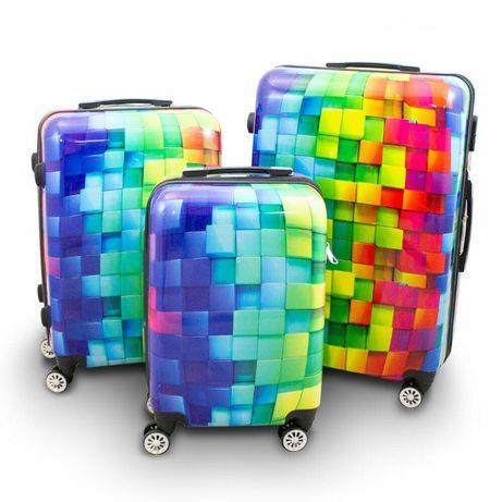 Komplet zestaw walizek 3szt Berwin Cube