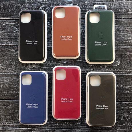 Чехол LEATHER Case FULL кожаный для iPhone 6 7 8 x s r plus 11 pro max