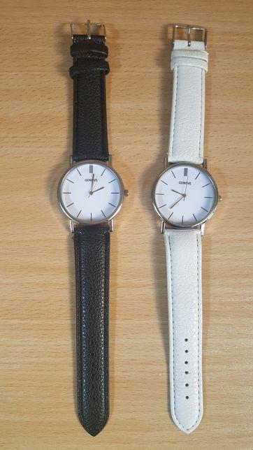 Zegarek damski biały i czarny pasek