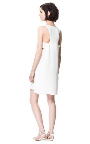 Biała sukienka ZARA XS/34* nowa!