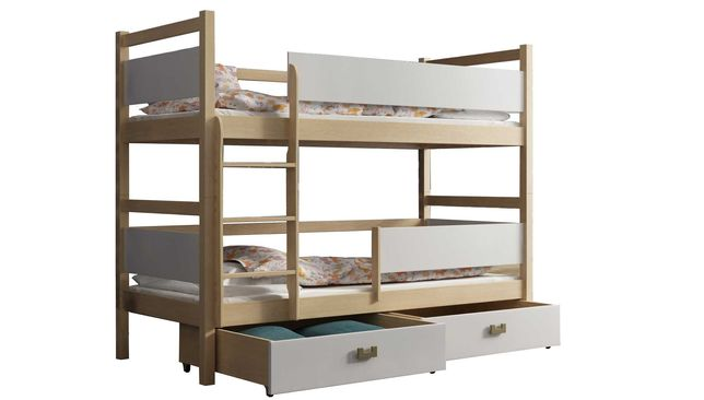 Nowe łóżko piętrowe 2 osobowe! Materace + szuflady Gratis!  PROMOCJA