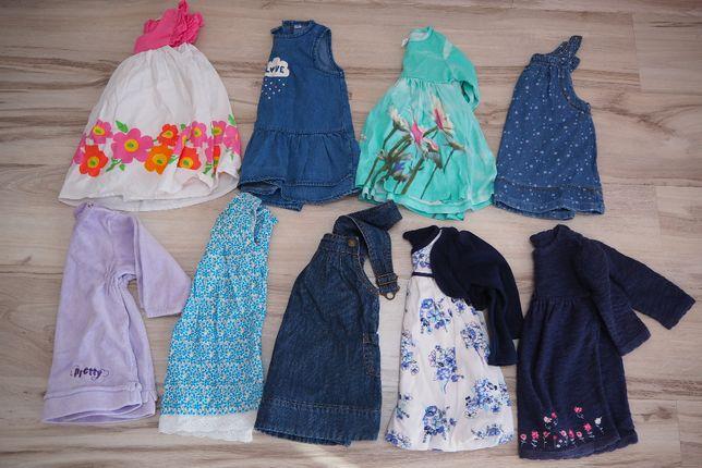 zestaw sukienek dla malej dziewczynki rozm. 62-68