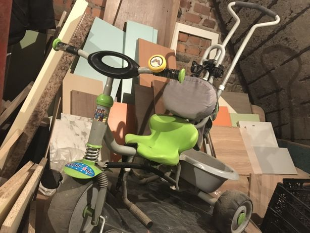 Детский трёхколёсный Велосипед с ручкой и крышей