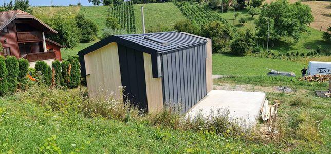 Dom w 30 dni całoroczny bez pozwolenia MTB ONE 5x7 z antresolą 35m2