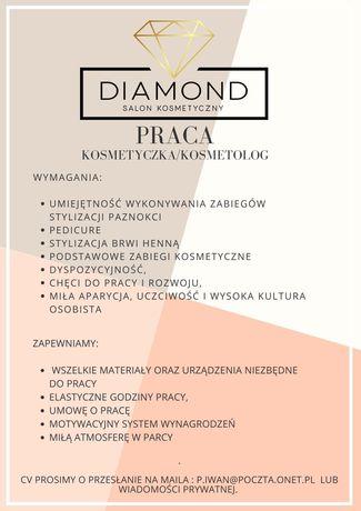 Praca Kosmetyczka/Kosmetolog