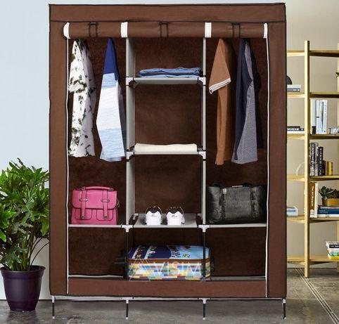Складной тканевый шкаф Storage Wardrobe 88130 Коричневый
