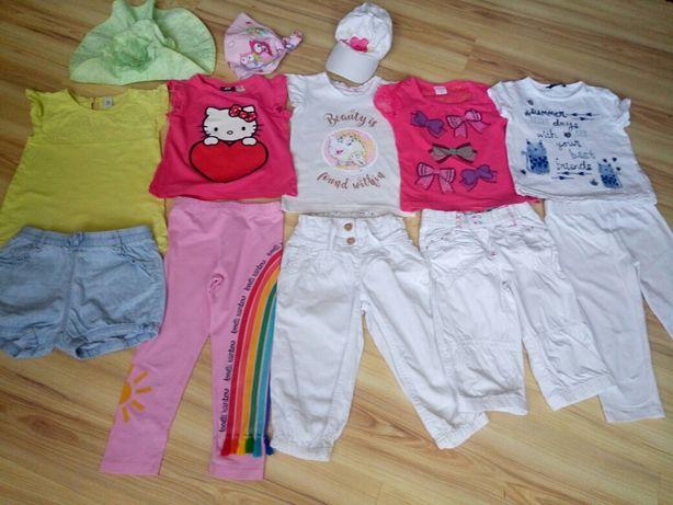 Пакет фирменной  летней одежды на девочку 3-5л  лосины, футболк, капри