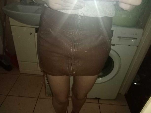 Spódniczka mini skurowa