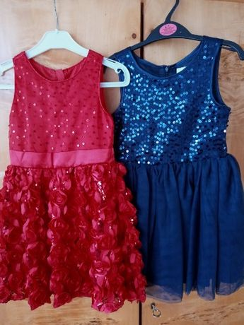 Sukienka czerwona i granatowa