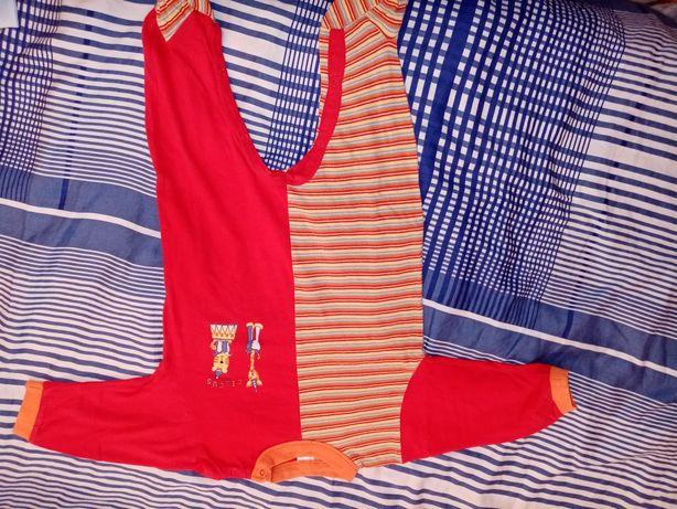 Śpiochy, pajacyki dla chłopca w rozmiarze 3-6 miesięcy 8 sztuk