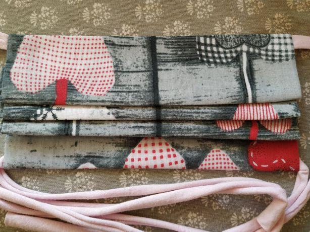 Maseczki bawełniane , dwuwarstwowe z kieszonką , również dla dzieci