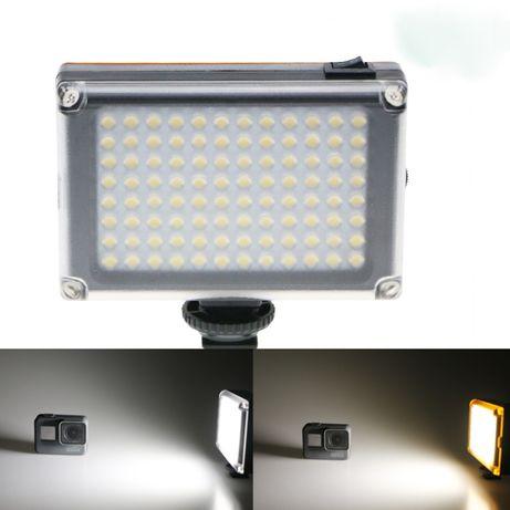 Накамерный свет 96 светодиодов с плавным регулятором+светофильтры