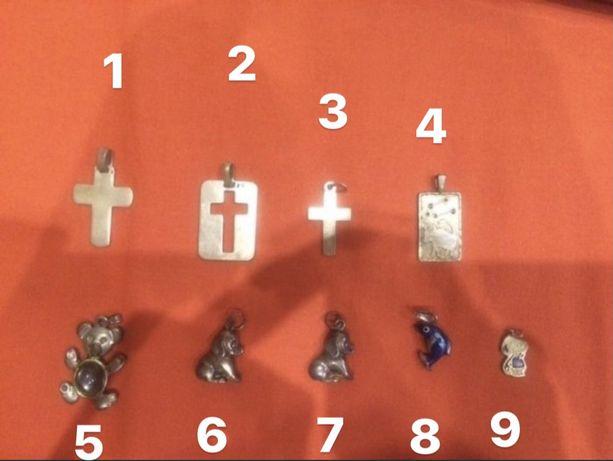 Pendentes e Colares em prata/aço