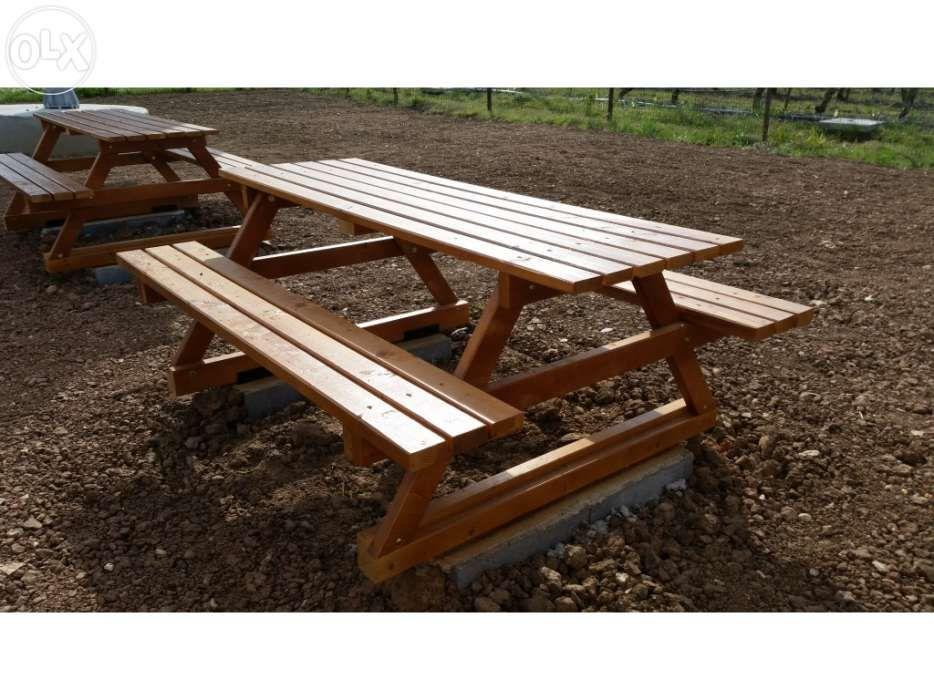 bancos e mesas de jardim - Madeira&Conforto