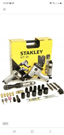 STANLEY zestaw pneumatyczny kompresor klucz 34el.