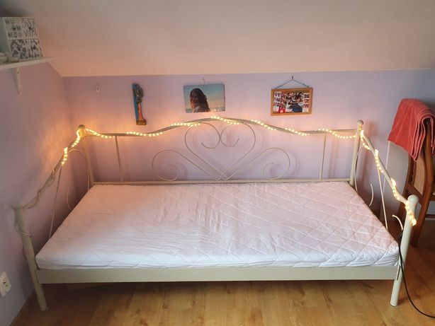Łóżko JYSK Ringe z materacem 90×200