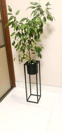 Doniczka metalowa kwietnik stojący w stylu loft stojak donica na kwiat