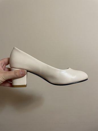 Туфли свадебные кожзам