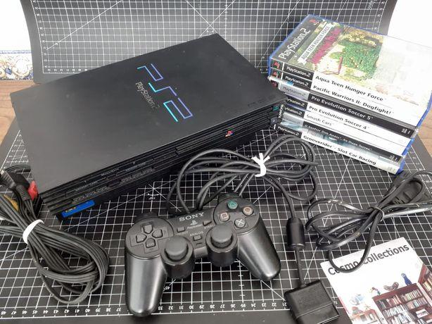 Consola Sony Playstation 2 com 7 jogos originais