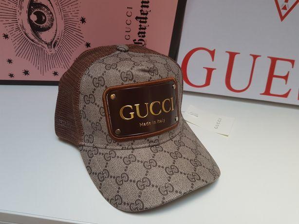 Czapka z daszkiem Gucci Nowa bejsbolówka damska męska  brązowa