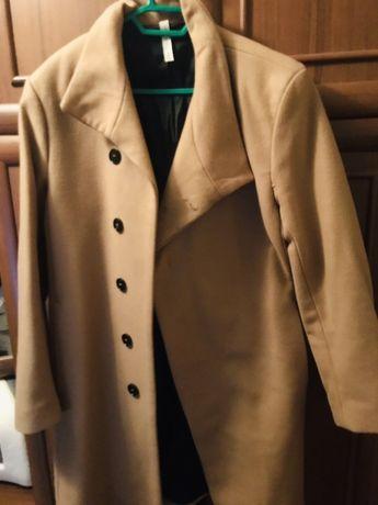 Мужское бежевое пальто Zara Man