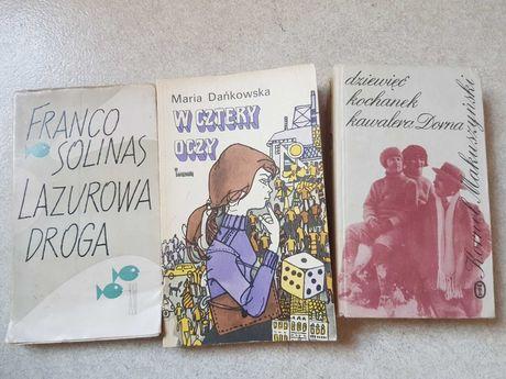 3 stare książki Solinas/Dańkowska/Makuszyński