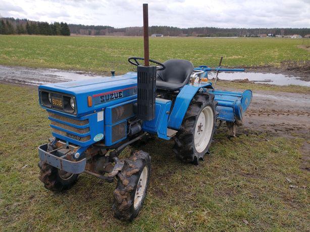 Mini mikro traktorek kompaktowy ogrodniczy Mitsubishi M 2001 D Suzue