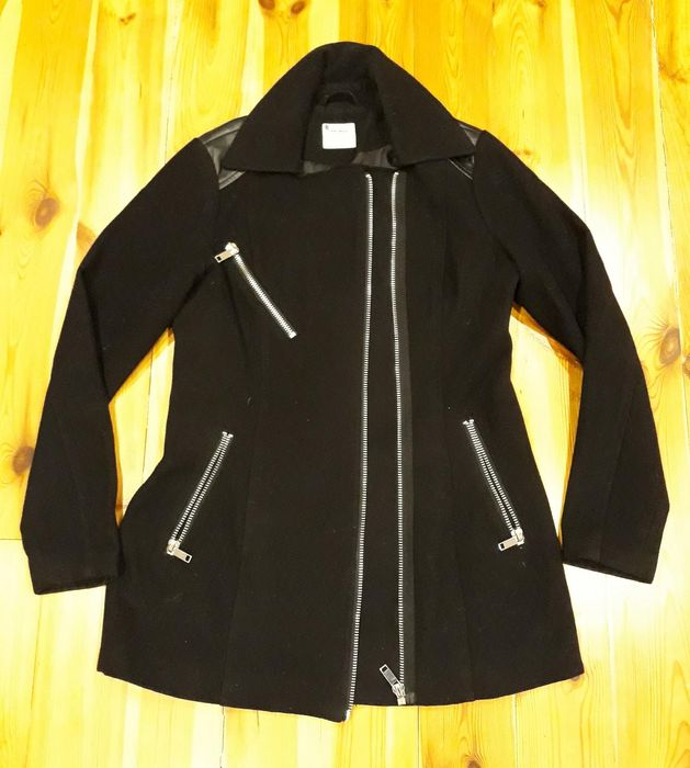 Vero moda ramoneska płaszcz wstawki skóra 38 Wilkszyn - image 1