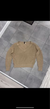 Beżowy sweter H&M