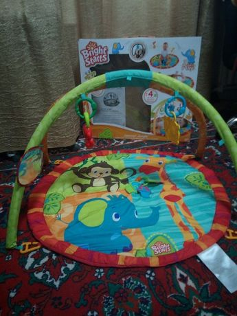 Bright starts развивающий детский коврик 0+
