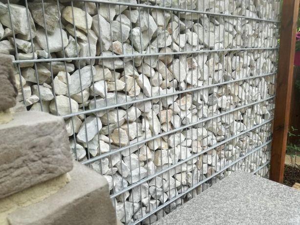 biały kamień do gabionów, bryły marmurowe, Kamienie Złotniki