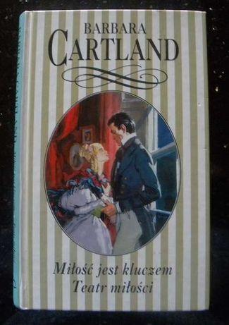 """Miłość jest kluczem, Teatr miłości"" Barbara Cartland romans"