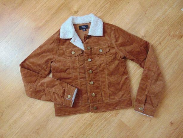 Вельветовая куртка, пиджак с мехом 42-44 р.