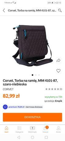 Nowa torba męska firmy corvet