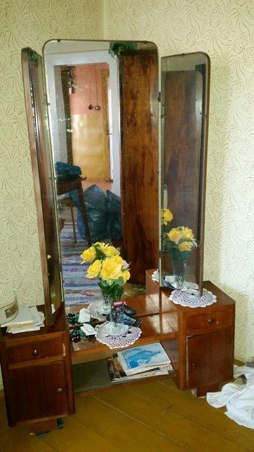 Toaletka lustro retro drewno