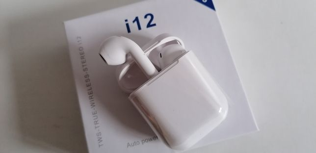 Słuchawki tws i12 bluetooth android iPhone powerbank