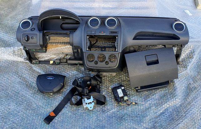 Ford Fiesta Mk6 deska kokpit airbag oryginał Europa