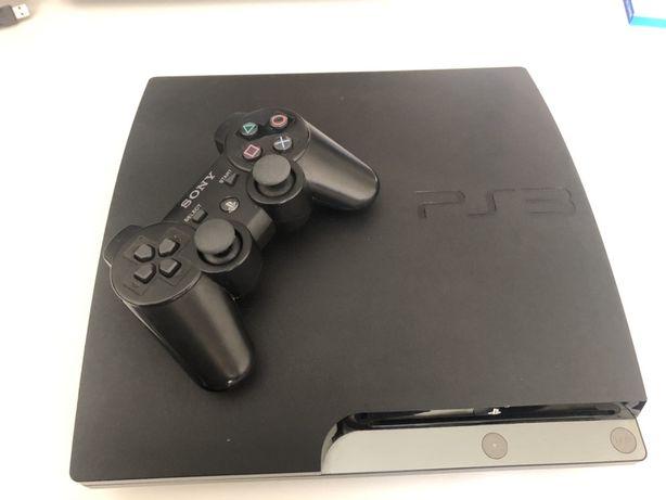 Playstation Sony - 3 slim (160 GB) cabos originais + comando original