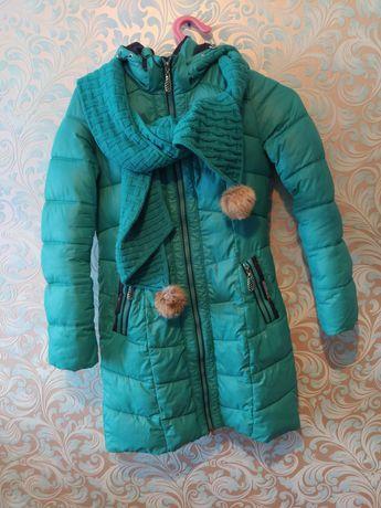 Куртка осінь-зима+ шарф 44 М