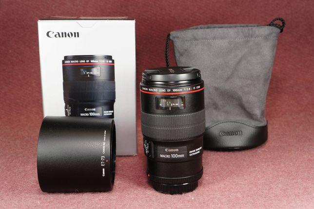 Canon 100 mm f2,8L Macro is usm КАК НОВЫЙ!!!